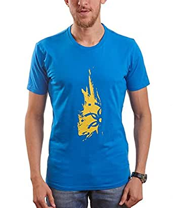 Nas Trends Blue Cotton Round Neck T-Shirt For Men