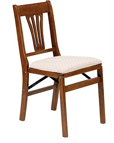 Stakmore Urn Back Folding Chair Finish, Set of 2, Fruitwood