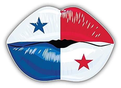 Panama flag lips art decor bumper sticker 5