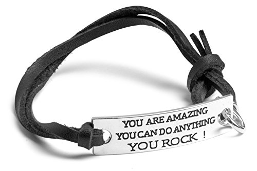 YOU-ARE-AMAZING-YOU-CAN-DO-ANYTHING-YOU-ROCK-Inspirational-Sterling-Silver-Plated-Bracelet