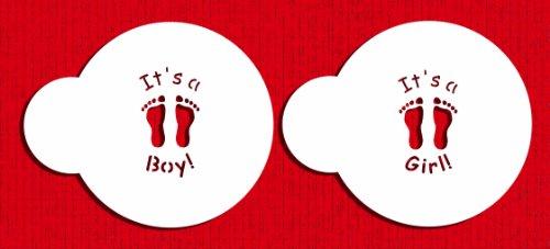 UPC 787484002996, Designer Stencils C190 It's a Boy/Girl Candy/Cookie Stencils, Small, Beige/Semi-Transparent