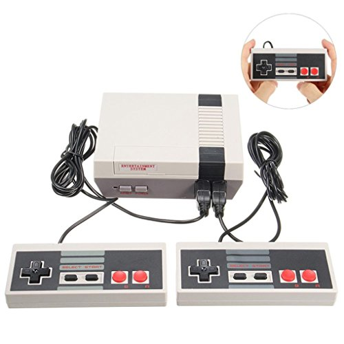 Game Console, Vodoka Mini Classic 620 Games Console Entertainment System w/ 2 Handle For Nintendo NES