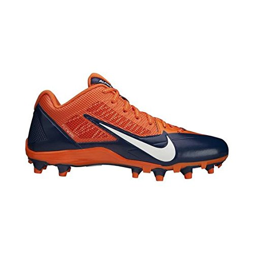 NFL CINCINNATTI BENGALS NIKE MEN'S ALPHA PRO TD SB LOW FOOTBALL CLEATS ORANGE BLUE SIZE 15 US by NIKE