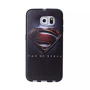 S6 caso, JXT 3D alivio de diseño de TPU funda de silicona suave cubierta protectora para Samsung Galaxy S6 con lápiz Superman
