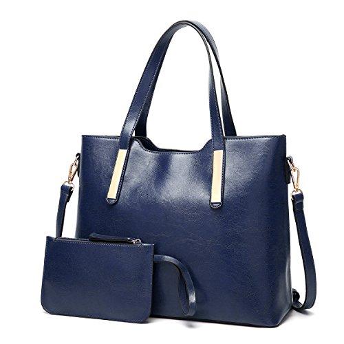 Coolives Women Bucket Long Shoulder Strap Top Handle Bag Wine red Navy Blue