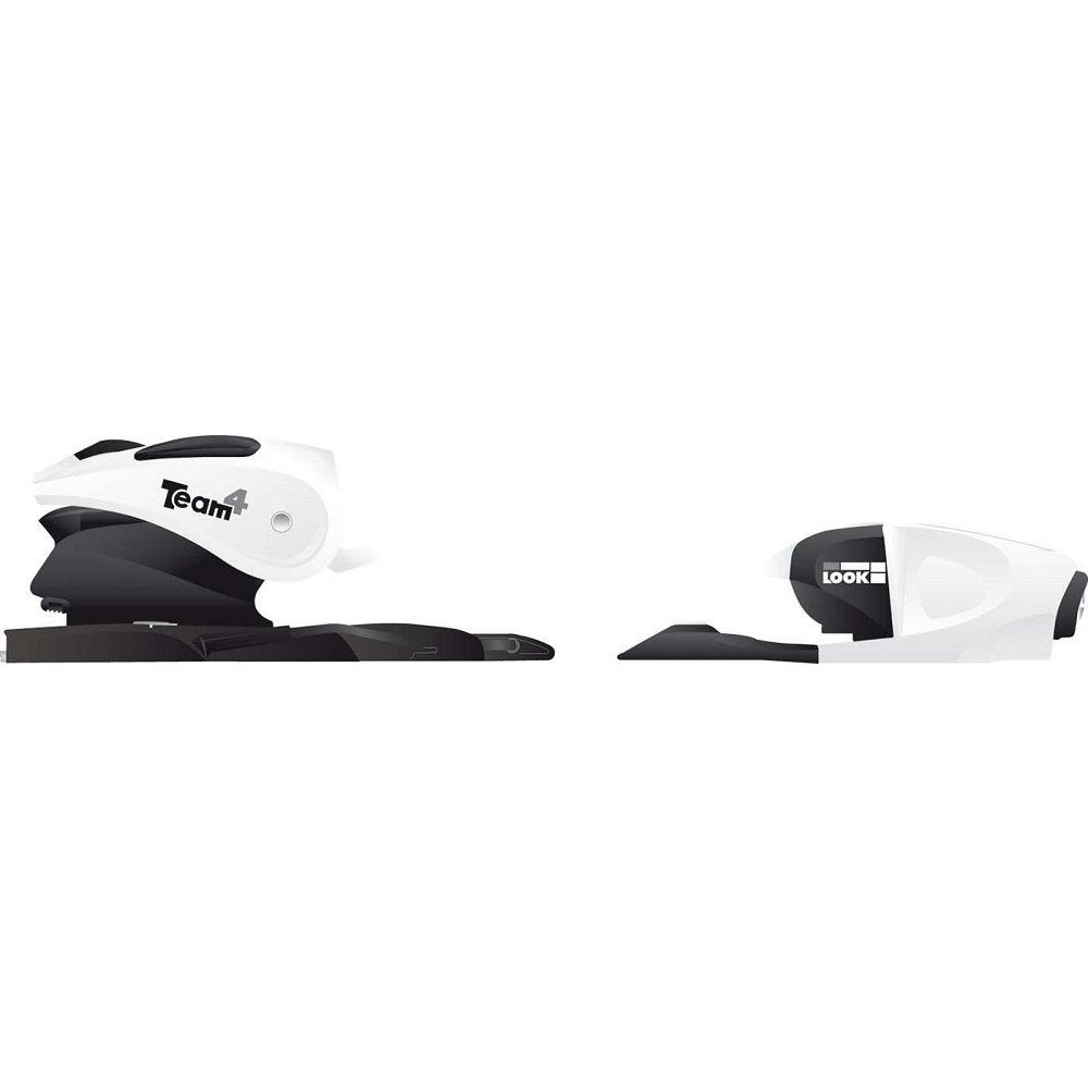 Look Team 4 B76 White/Black 76mm Ski Bindings by Look