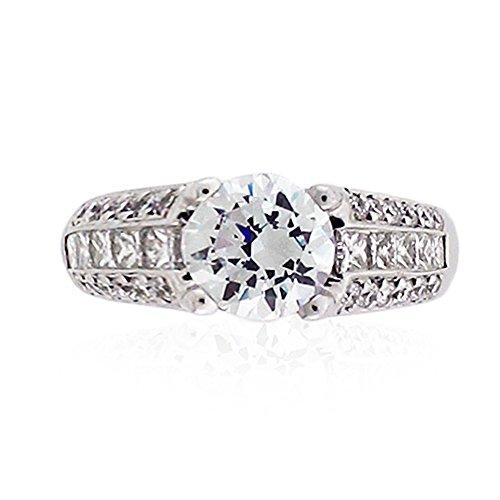 1.30 Carats Diamond Semi Mount Engagement Ring 18K White Gold