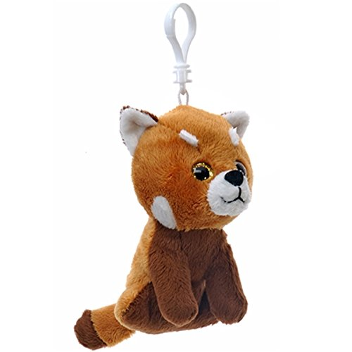 4 Red Panda Key Clip NIXEU A67590 Fiesta Toys North American Animal Plush