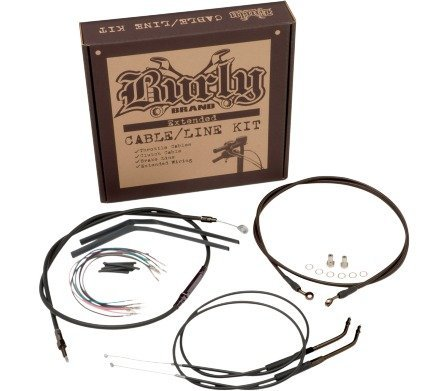 Burly B30-1007 Cable/Brake Line Kit for 12'' Height Apehanger Handlebars by Burly