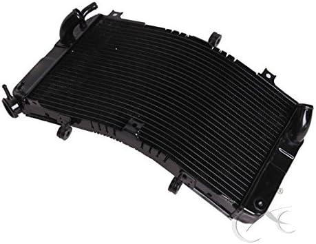 XMT-MOTOR Moto Radiateur de refroidissement Noir pour GSX-R600 GSX-R750 2001 2002 2003 K1 K2