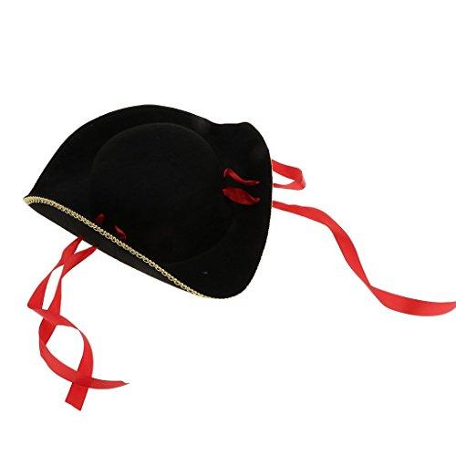 femme de Deguisement avec Pirates pour avec Homyl Rouge Noir Chapeau Bande gpZ5F7w7Wq