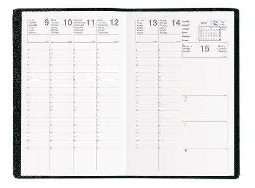 Agenda Semainier Scolaire 2018/2019 c: Noir - Format de Bureau : 16x24 cm