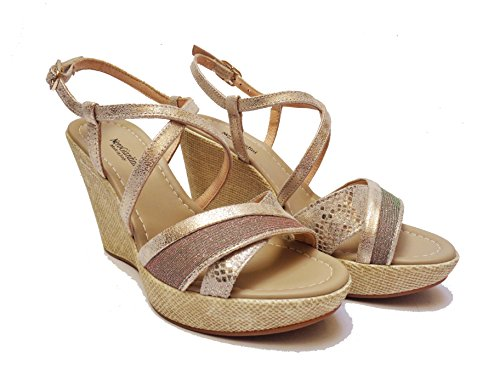 Donna Nero Giardini 17622 sandali da in pelle col. alt. zeppa cm.num.