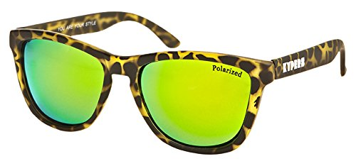 KYPERS Caipirinha-CA026, Gafas de Sol Hombre^Mujer, Rubber Tortoise Green Mirror