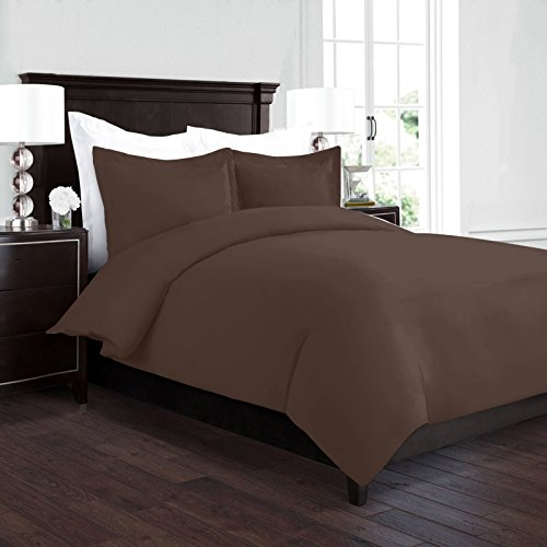 Chocolate King Duvet Cover - Nestl Bedding Duvet Cover, Protects and Covers your Comforter/Duvet Insert, Luxury 100% Super Soft Microfiber, King Size, Color Chocolate Brown, 3 Piece Duvet Cover Set Includes 2 Pillow Shams