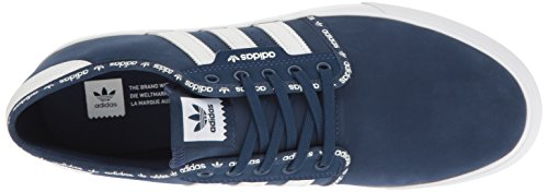 Adidas Originals Heren Seeley Fashion Sneakers Mystery Blauw Wit / Wit