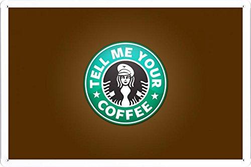 Starbucks Logo Tin Poster by Food & Beverage Decor Sign