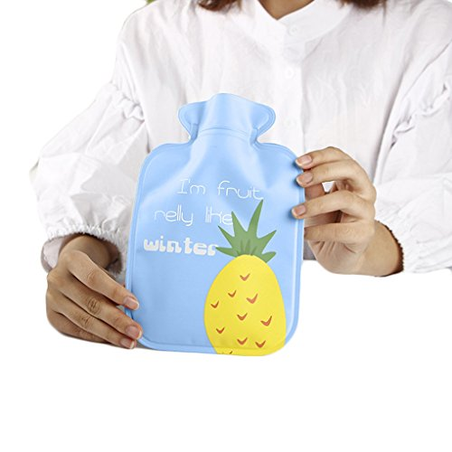 M-Egal Handwarmer Pocket Classic Rubber Cute Hot Water Bottle Water Bag Cartoon Blue pineapple