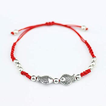 Sisters Couple red String Foot Chain Anklet Ankle Bracelet Jewelry Women Girls Student Simple Retro Department Bell Sound Girlfriends (Green Mermaid tears Anklet a053