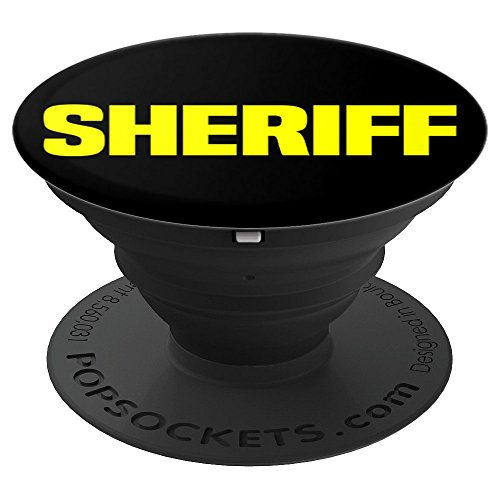 Sheriff Department Police Badge Uniform Cops Law Enforcement - PopSockets Grip and Stand for Phones and Tablets