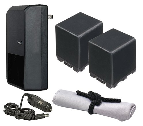 Panasonic HC-X920 High Capacity Intelligent Batteries (2 Units) + AC/DC Travel Charger + Nw Direct Microfiber Cleaning Cloth.