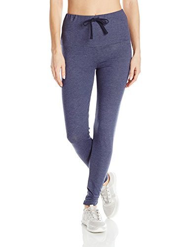 PL Movement by Pink Lotus Women's Soft Terry Pant with Large Waistband, Dark Navy, Small