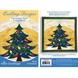 Tree Embroidery Design - Anita Goodesign Christmas Tree Crazy Quilt Embroidery Designs
