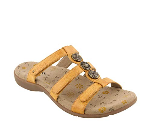 Taos Footwear Women's Prize 3 Golden Yellow Sandal 8 M ()