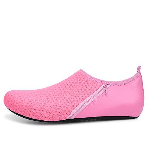 Aqua La Spiaggia Pelle D'acqua Scarpe Calzini Pink Yoga Antiscivolo Piedi Con A Pocket Surf Per Unisex Jiasuqi Nuotare Esercizio Nudi wv7Bq1qO