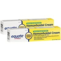 Equate Max Strength Pain Relief Hemorrhoidal Cream, Two 1.8 Ounce Tubes