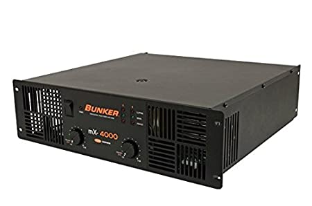 Amazon.com: Professional power amplifier 4000 watts Bunker MX-4000 (Alt QSC RMX 4050a): Musical Instruments