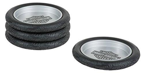 Harley-Davidson Bar & Shield Logo Tire Coasters Set, Set of 4 HDL-18564