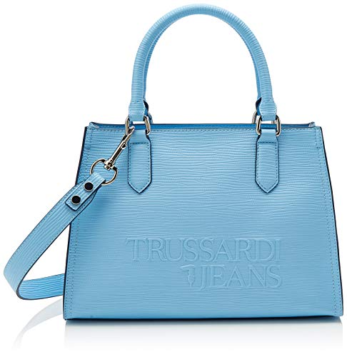 Trussardi Jeans T-tote High Frequency, Women's, Blue (Light Blue), 30x31x12 cm (W x H L) ()