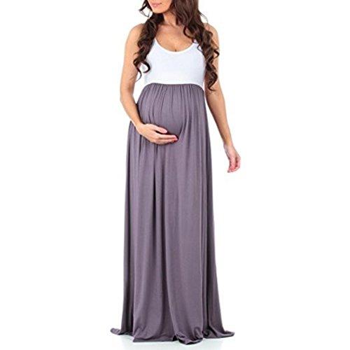 Gris de Vestidos Mujer youth Casual Premama Verano de Fiesta Mangas Maternidad Suelto Vestidos K Cómodo Vestidos Vestidos Embarazada Sin Largos Fotografia n0pBxRwTxq
