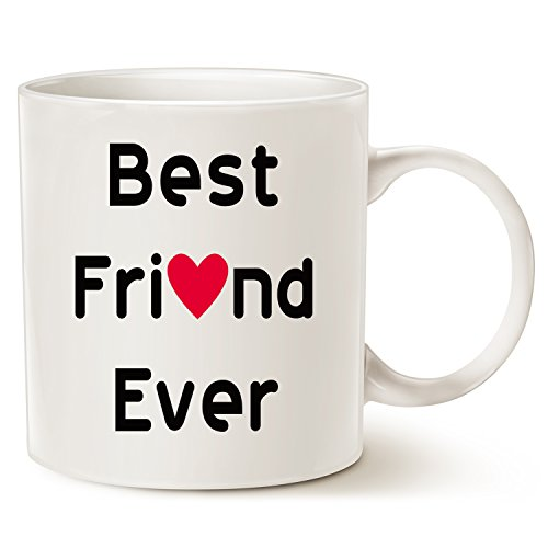 MAUAG Christmas Gifts Best Friend Coffee Mug for Friend Coworker, Best Friend Ever Unique Holiday or Birthday Gifts Idea for Friend Cup White, 11 Oz