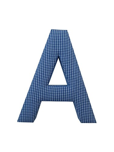 (Letter A Fabric Wall Letter - Blue Gingham - LETTER)