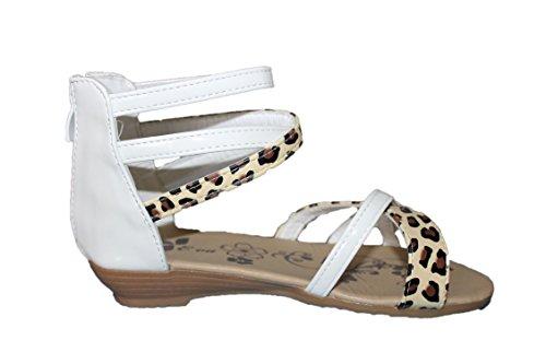eva mode-spartiates sandales-blanche-fille