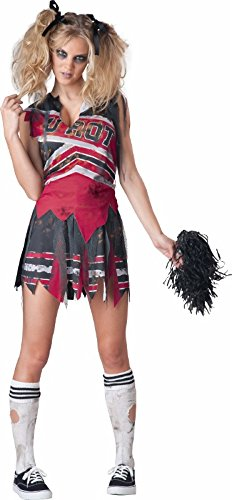 InCharacter Costumes Women's Spiritless Cheerleader Costume, Red/Grey, Medium]()