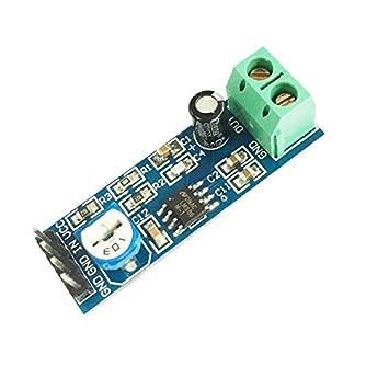 Herramientas de bricolaje, LM386 Chip 20 Gain Módulo de amplificador de audio para Arduino -