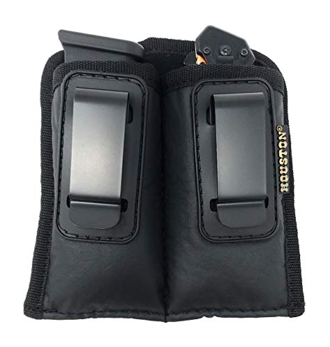 Concealment Magazine and Multi Use Holster IWB W Clip Fits Most Double Stack 9/40 mm. for Full Sizes & mid Sizes Guns Like Glock 19/17/21, Beretta, Ruger (Double Large Double Stack 9mm /.40 Cal)