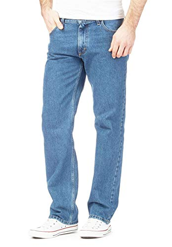 Pantaloni Jeans Dritta Regolari Light Islander Adulti Mens Gamba Lavoro Heavy Duty Di Blue Da Pianura Fashions wIav6qX
