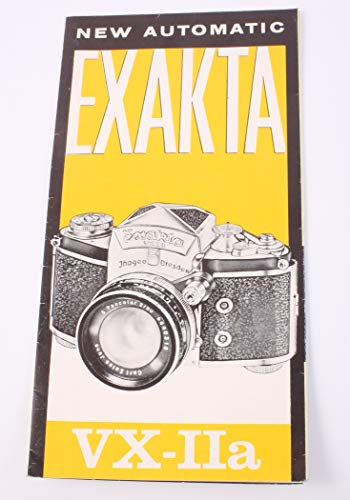 (Instructional Manual for EXAKTA VX-IIA, Vintage)