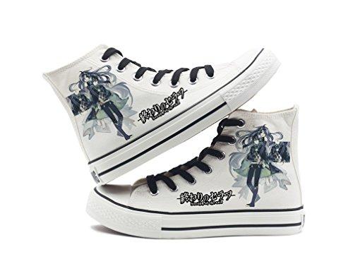 Seraph Of The End Anime Canvas Zapatos Cosplay Zapatos Sneakers Black / White White 6