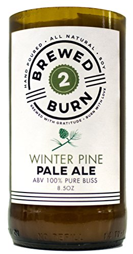 Brewed2Burn - Winter Pine Pale Ale Craft Beer Scented Candle 8.5oz All-Natural Soy Wax - Hand-Poured Authentic Beer Bottle ABV 100% Pure Bliss | Refreshing: Woodsy Blend of Pine, Cedar & Musk