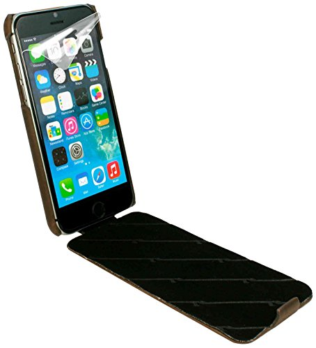 Tuff-Luv Tuff-Grip Case for iPhone 6 Western Leather Brown [H2_37]