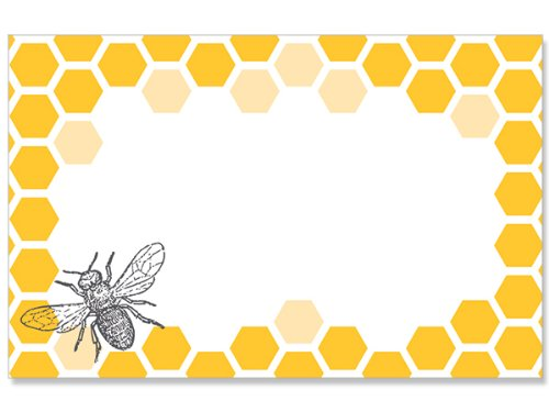 Pack Of 50, Bee and Honeycomb Enclosure Card 3-1/2'' x 2-1/4'' Made In USA by Generic