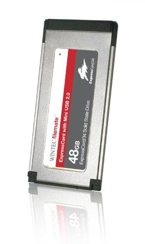 FileMate SSD ExpressCard Solid State Drive and Mini USB 2.0 48GB PCI Express 4 GB-s Slim 3FMS4D048JM-R
