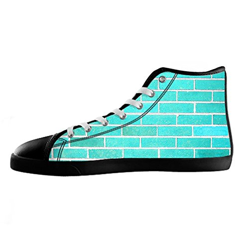 Custom struttura del muro di mattoni Womens Canvas shoes I lacci delle scarpe scarpe scarpe da ginnastica Alto tetto