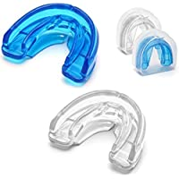 Coolrunner Double Braces Mouth Guard, 2 Pack Mouth Guard Sports, Athletic Mouth Guards for Braces, Youth Mouthguard for Upper and Lower Teeth Protection, No Boiling Required For Youth, Teenager and Ad