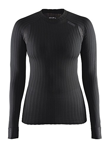 Craft Sportswear Women's Active Extreme 2.0 Long Sleeve Tight Fitted Base Layer Shirt, Black, Large